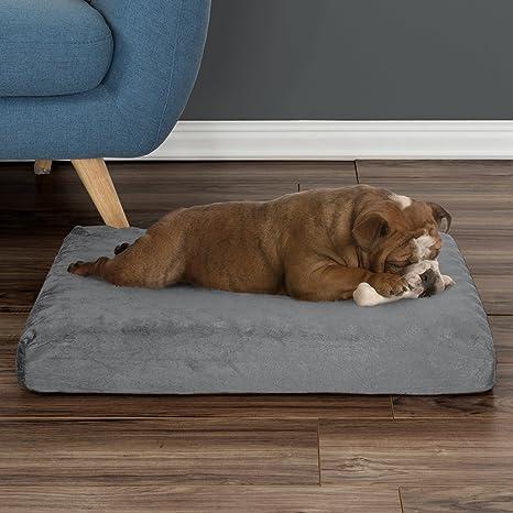 PETMAKER Ortopédica cama para mascotas – con forma de huevera y de espuma con efecto memoria