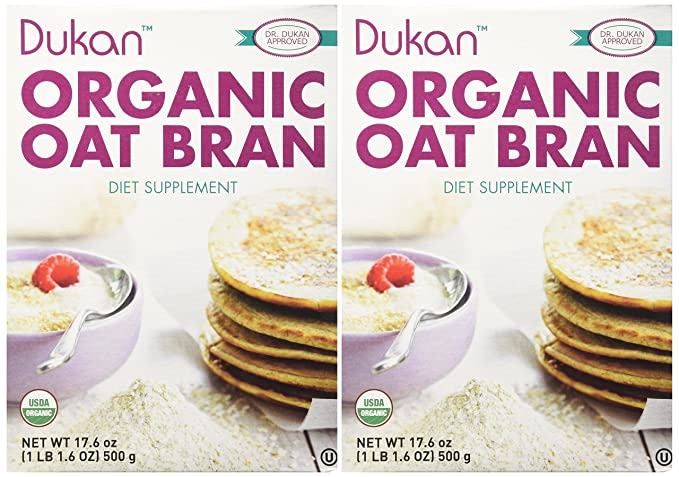 Dukan Diet Organic Oat Bran - 2 Pack - 17.6 oz. box
