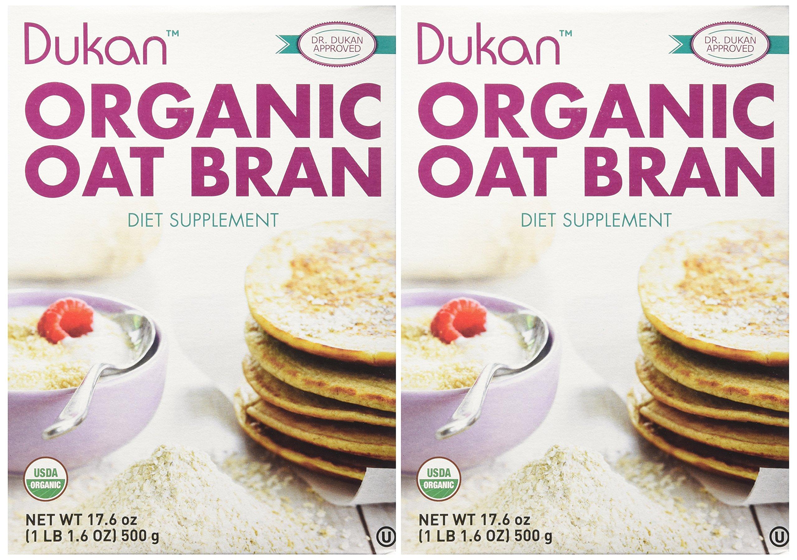 Dukan Diet, Organic Oat Bran, 17.6 oz (500 g) - 2pc