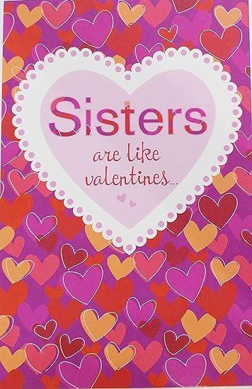 Amazon.com: Hermanas son como San Valentín... Se Alegra tu ...