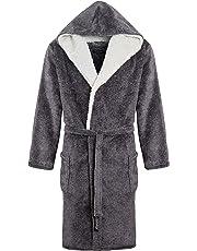 MICHAEL PAUL Men's Soft Fleece Dressing Gown