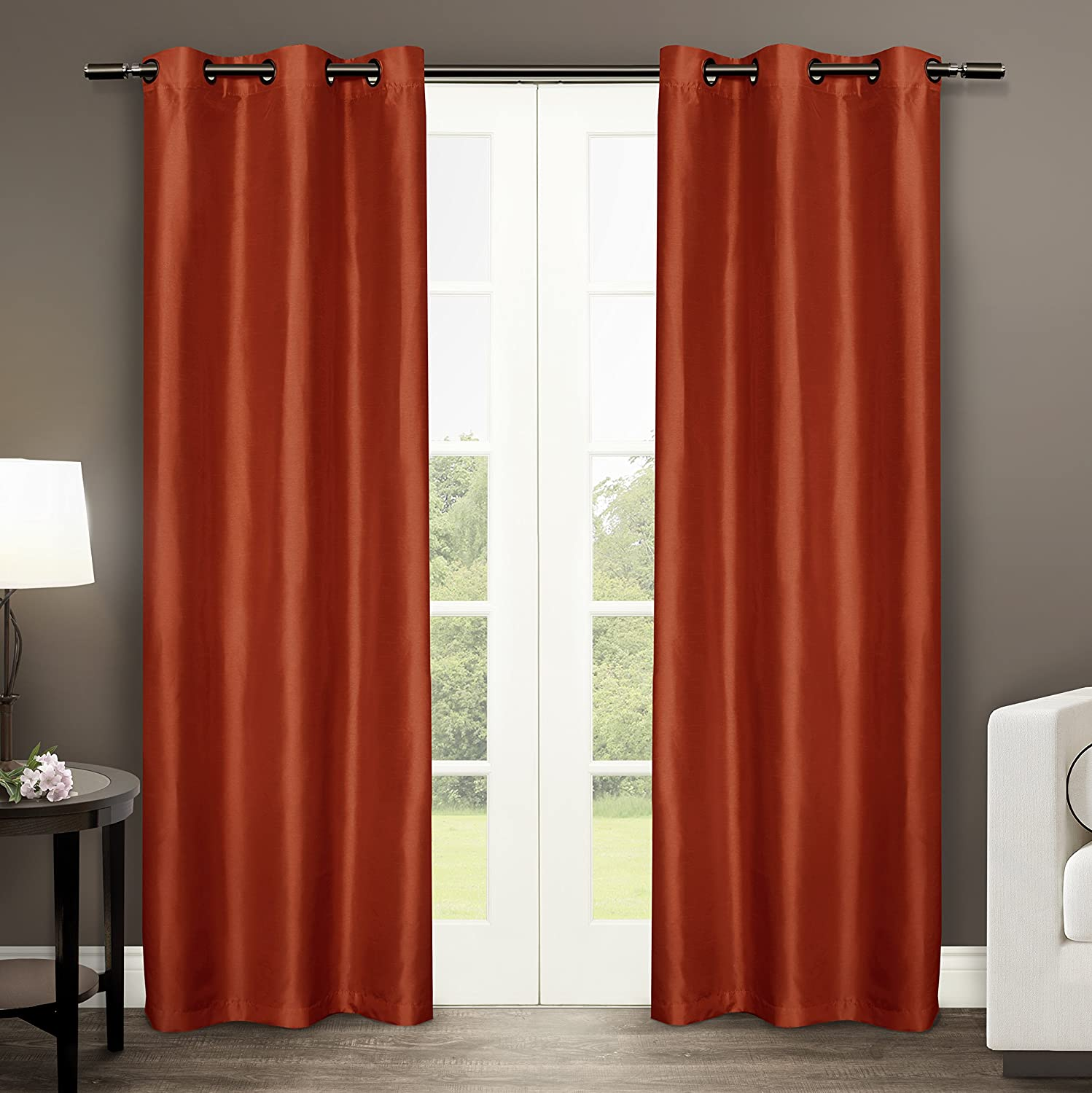 snazzy room curtain sleeper window added couch and covering chic natural cool well modern as decorating cushions ornate orange panels living inspiration wall painted curtains with ideas in white chevron treatment