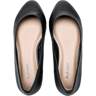 44112408b96da Women's Wide Width Flat Shoes - Comfortable Classic Pointy Toe Slip On  Ballet Flat