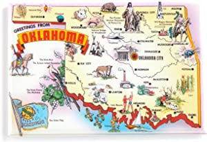 Greetings from Oklahoma Fridge Magnet (2.5 x 3.5 inches) state map