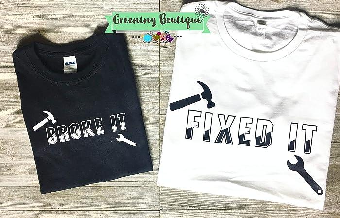 b751323b55638 Amazon.com: Broke it Fixed it Father Son Matching Shirts, parenting ...