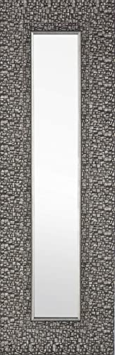Mirrorize Narrow Designer Accent Mirror, 1.5DX9.25HX27.75W, Mosaic Dark Silver, 3 Piece