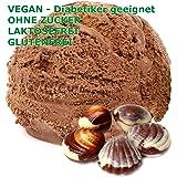 1 kg de polvo de chocolate belga vegetariana de hielo crema sabor - Azúcar - LACTOSA - GLUTEN - bajo en grasa, crema…