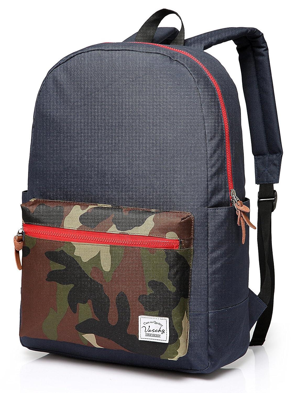 Vaschy Unisex Classic Water Resistant School Rucksack Travel Backpack 14Inch Laptop BP160401BA