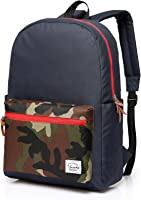 Vaschy Unisex Classic Water Resistant School Rucksack Travel Backpack 14Inch Laptop
