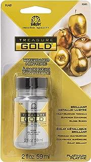 product image for FolkArt 3085E Treasure Gold Acrylic Paint, 2 oz, Platinum 2 Fl Oz