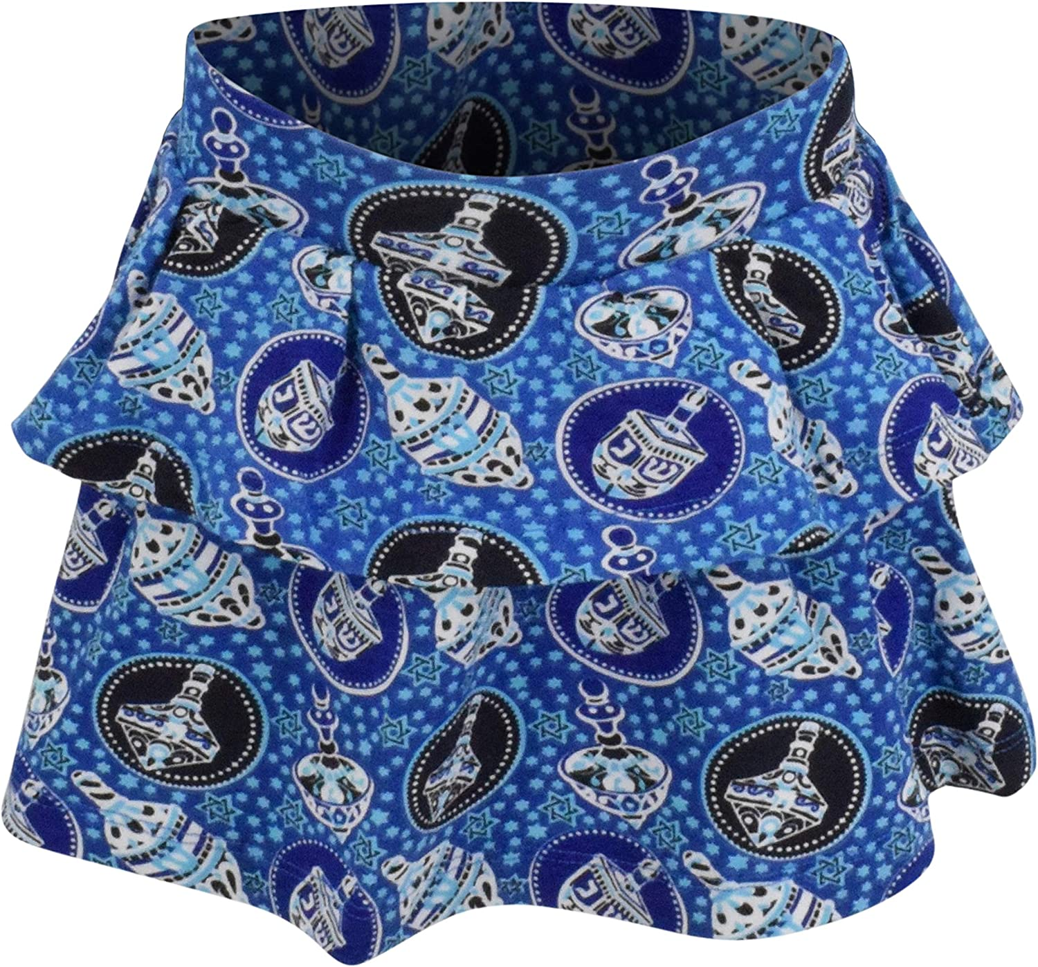 Unique Baby Girls Happy Hanukkah Dreidel Print Skirt Dress