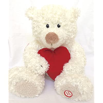 "Hallmark Heartly Sound and Motion 14"" Plush Bear: Toys & Games"