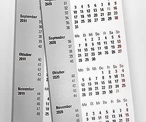HiCuCo Calendario Para 2 años (2018 + 2019) apto para calendario de mesa (3 meses typv: Amazon.es: Oficina y papelería