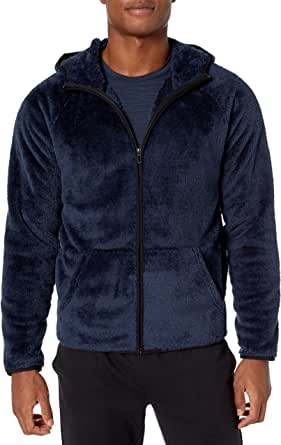 Peak Velocity Amazon Brand Men's Sherpa Fleece Jacket