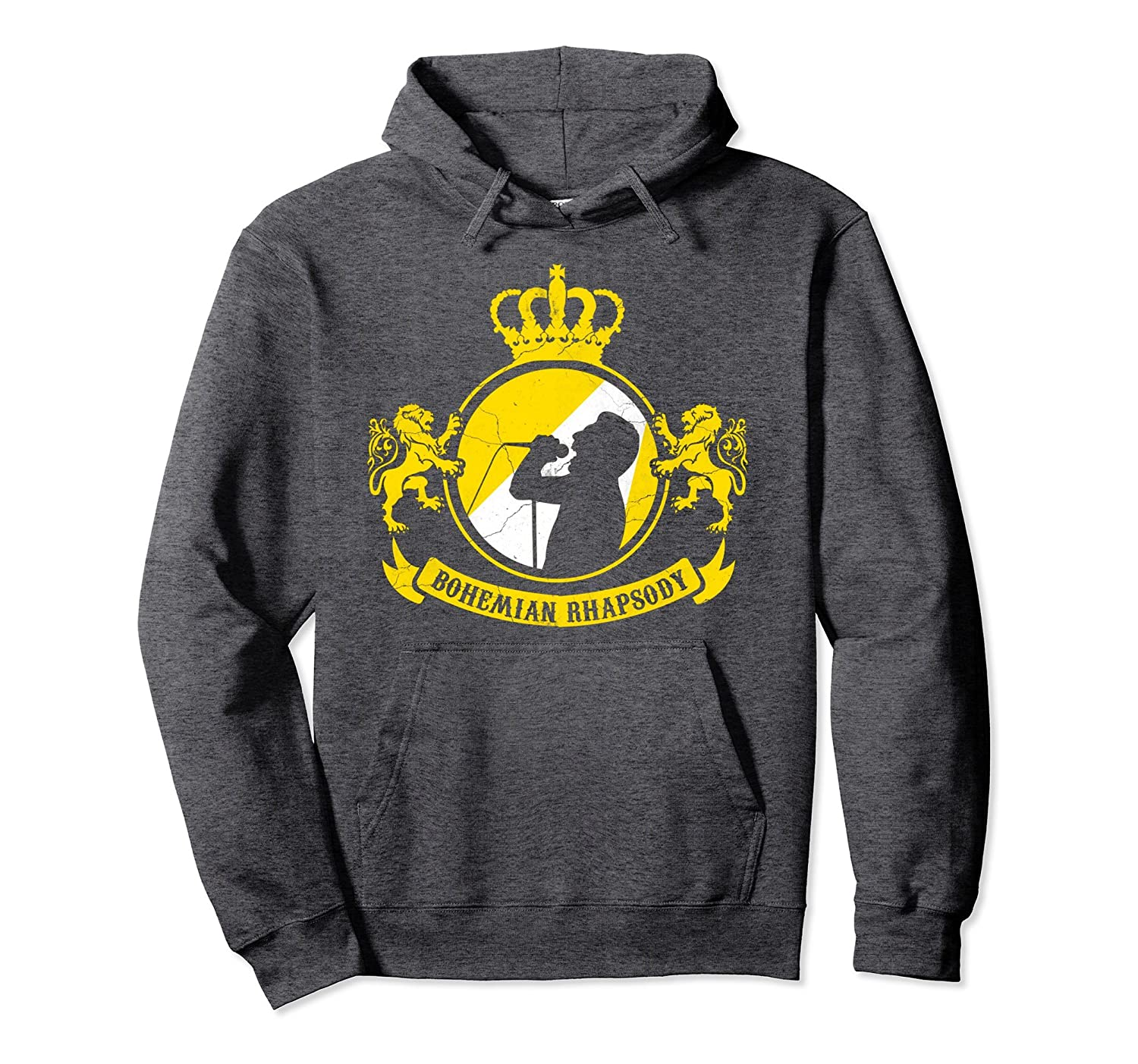 Queen Will Rock You Mercury Vintage Distressed Hoodie-fa