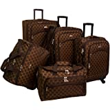 American Flyer Luggage Madrid 5 Piece Spinner Set, Brown, One Size