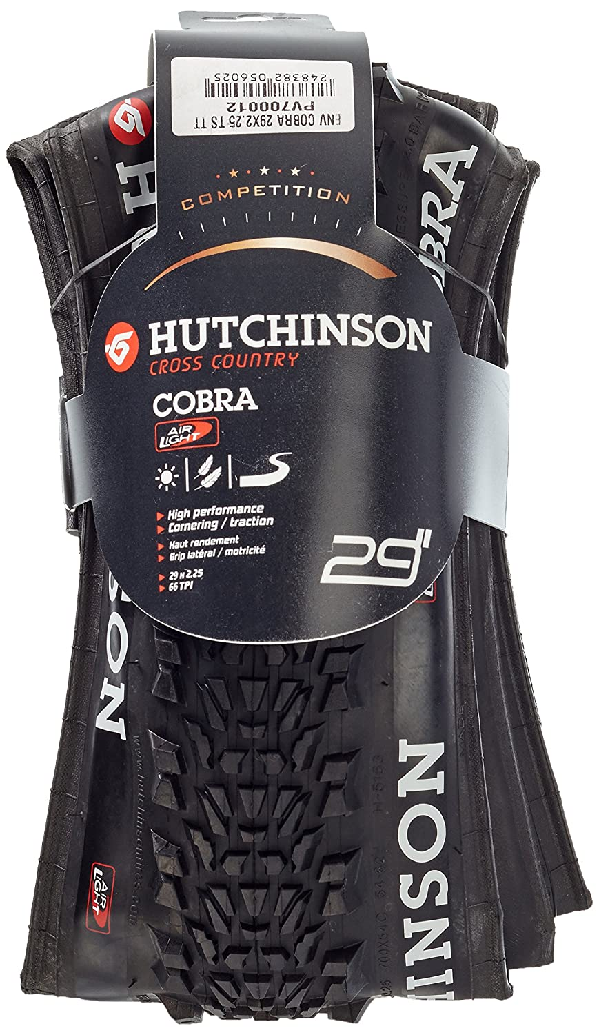 Hutchinson Cubierta Cobra 29x2,25 Air Light Flexible PV700012: Amazon.es: Deportes y aire libre