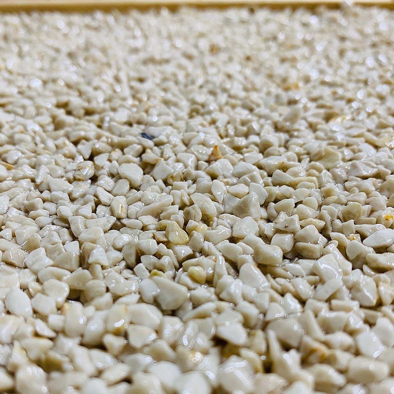 2qm 25Kg Steinteppich Set Marmorkies Bodenbeschichtung Grigio Occhialino 1-4mm