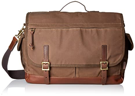 f100a2f20d Fossil Defender Waxed Canvas Top Handle Messenger