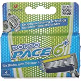 Dorco Pace Razor Blade Refills - 6 Blade Razor Cartridge For Men