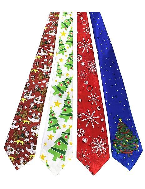 Christmas Tie.Jemygins Original 4pcs One Off Christmas Tie Mens And Boys Necktie For Festival