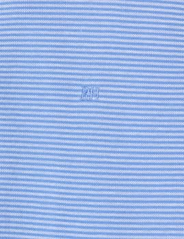 Pedro del Hierro P3BCC Polo Rayas, Azul (Marine Blue), Medium ...