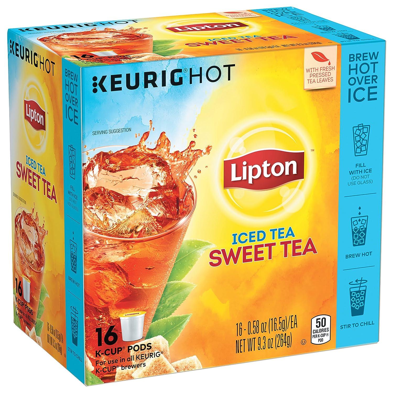 Lipton Iced Tea K-Cup Sweet Tea 16 ct, pack of 4