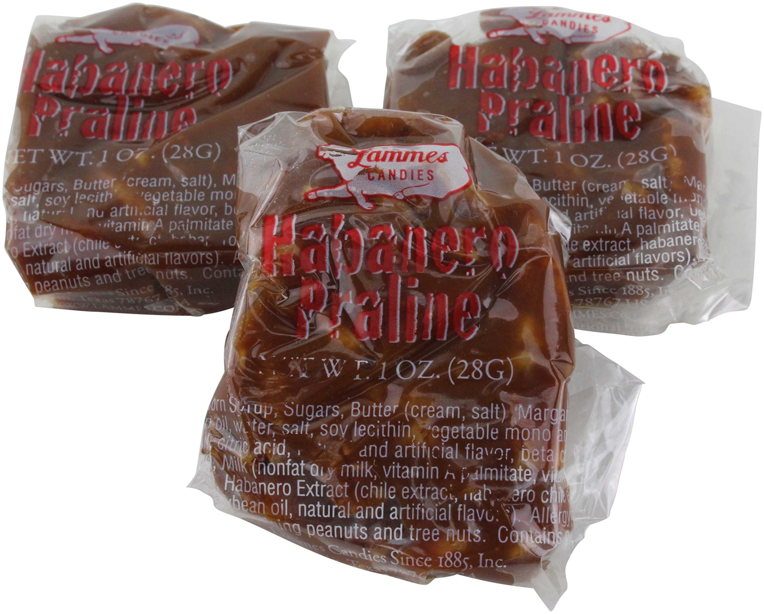 Lammes Candies Texas Chewie Habanero Pecan Pralines in Plain Box, 32 Oz by Lammes Candies