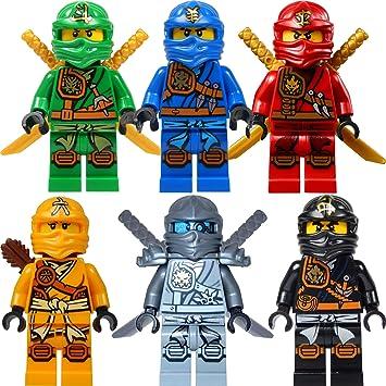 Lego Ninjago Figurenset 6 Ninjago Figuren Lloyd Jay Kai Cole