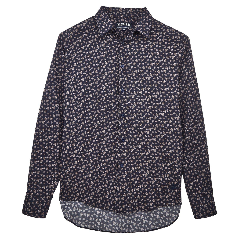 Vilebrequin Micro Ronde des Tortues Cotton veil shirt - Unisex Adults - navy - L