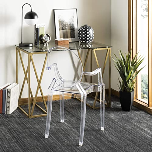 Safavieh Home Collection Theresa Desk, Clear and Gold