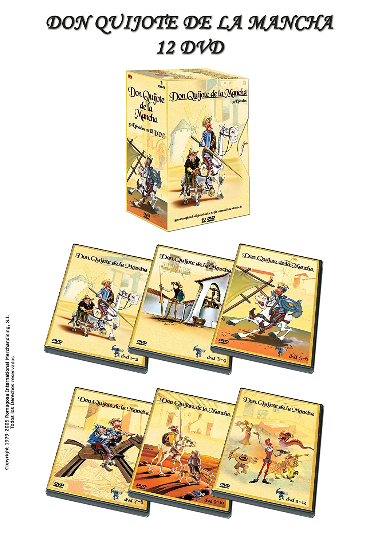 Don quijote de la Mancha (12 dvd's) (animacion): Amazon.es