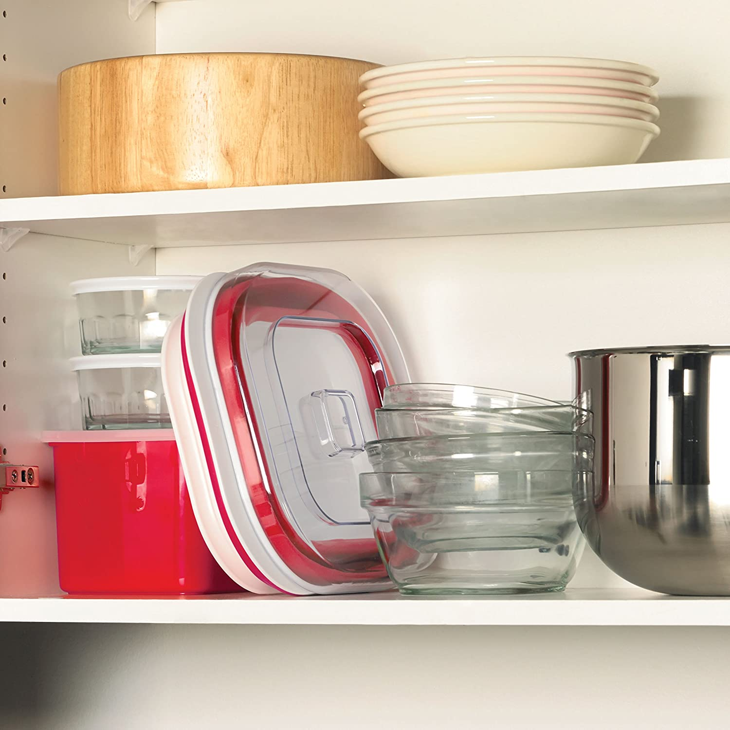 Large Red//White Cuisipro Collapsible Yogurt Maker