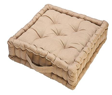 COJIN SUELO BOX 45X45X10 (BEIGE)