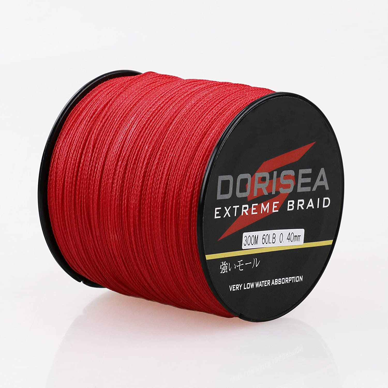 Dorisea 100M-2000M 6-300LB Test Red 100/%PE Dyneema Braided Fishing Line