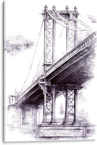 INTALENCE ART Unique Manhattan Bridge Wall Decor