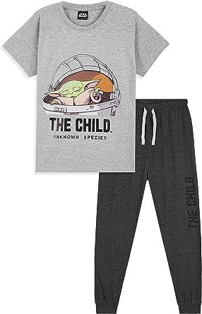 Star Wars Pijama Niño, Baby Yoda Pijama Niño Invierno ...