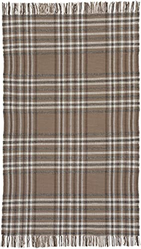 Ashley Furniture Signature Design – Hardy Large 8 x 10 Rug – Contemporary – Plaid Brown