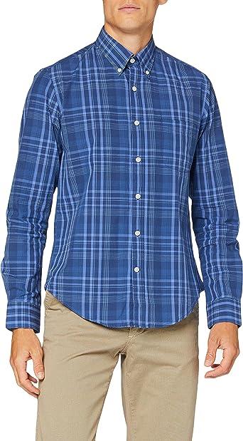 Cortefiel Big Check Fil Camisa Casual para Hombre: Amazon.es: Ropa y accesorios