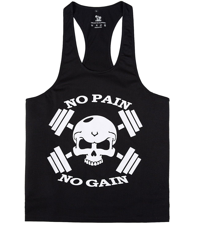 d415aef327a9e Amazon.com  YSENTO Mens Dri Fit Stringer Tank Top Gym Workout Racerback  Sleeveless Shirt Bodybuilding Y Back Tanks Tops  Clothing