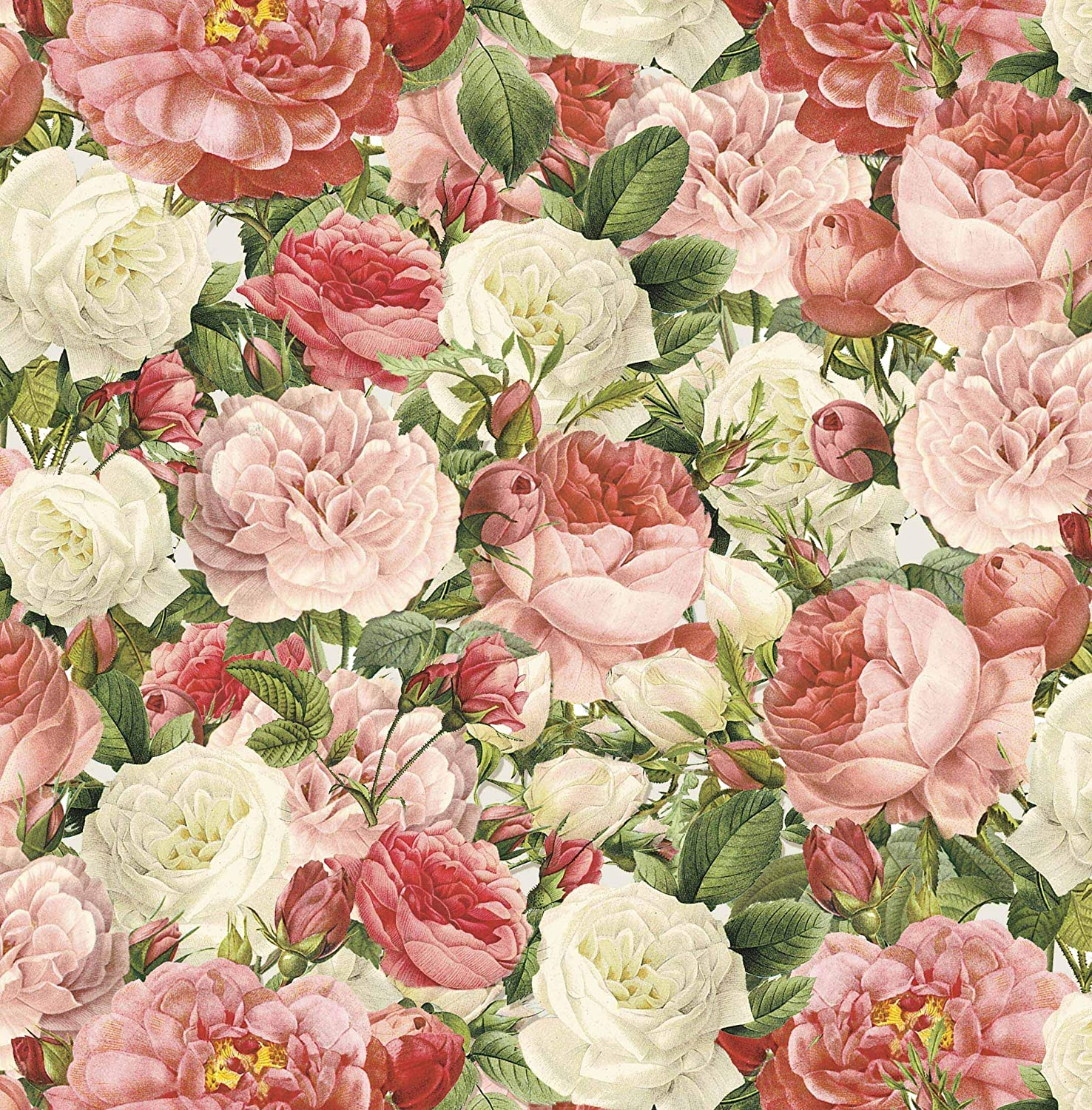 Roses Vintage Pink 100/% Cotton Fabric Children Craft