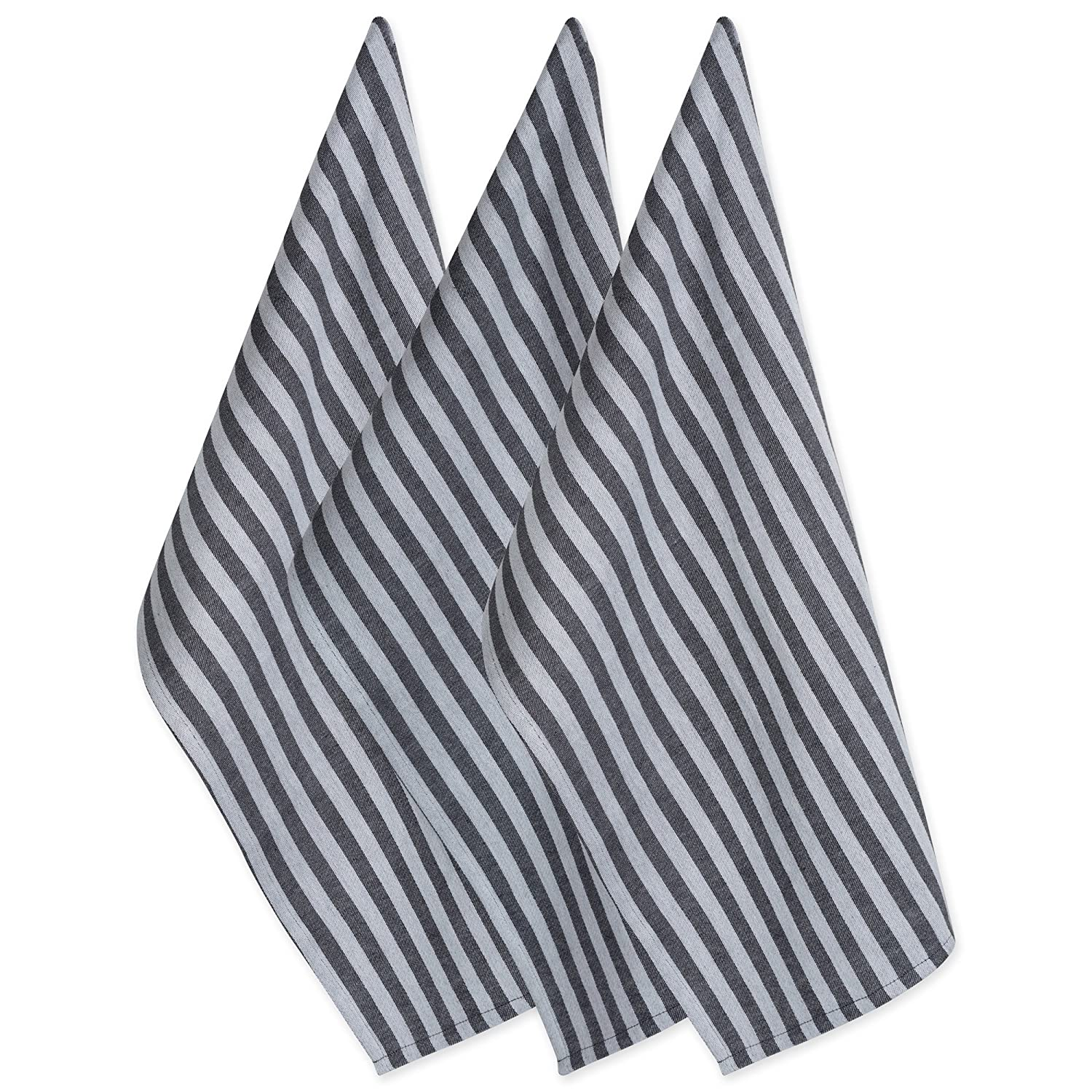 DII Cotton Decorative Farmhouse Chic Geometric Dish Towels Oversized Kitchen Perfect Mother's Day, Hostess, Housewarming Gift, (18x28-Set of 3), Stripe