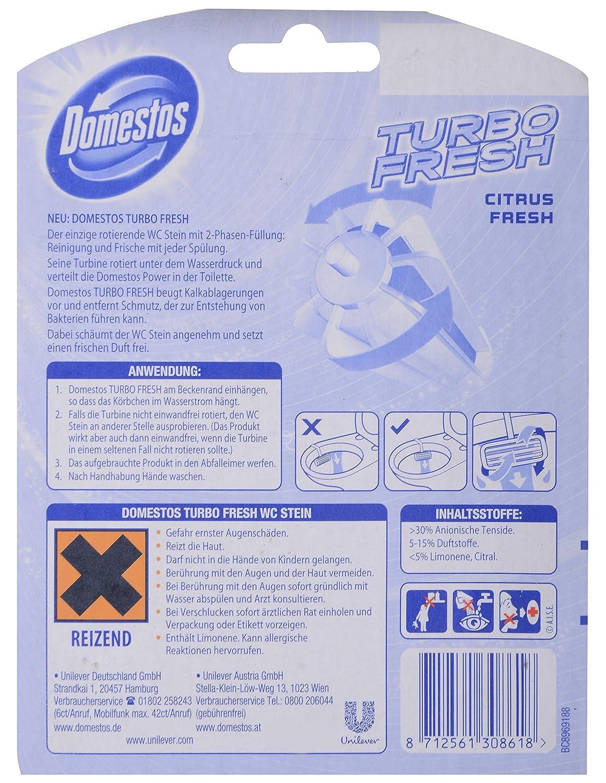 Amazon.com : Domestos Turbo Fresh WC-Stein rotierend citrus 38 g : Grocery & Gourmet Food