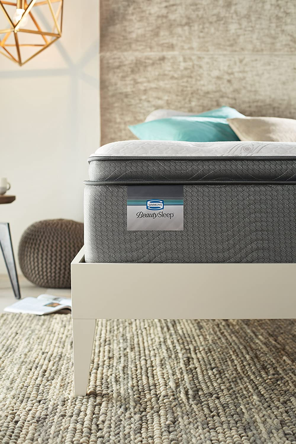 Amazon.com: Simmons BeautySleep Plush Pillow Top 450, Queen Innerspring Mattress: Kitchen & Dining