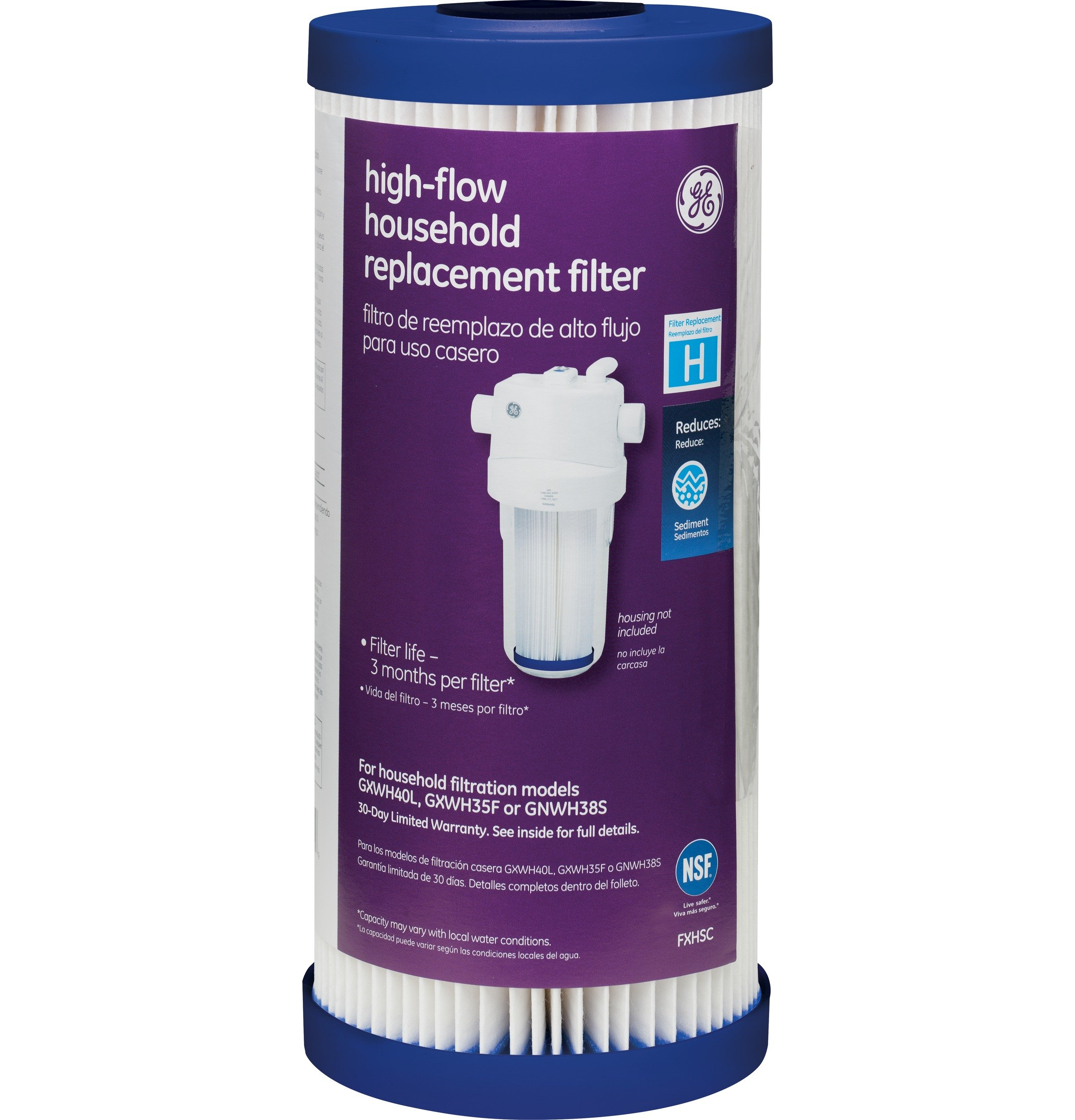 GE FXHSC Household Pre-Filtration Sediment Filter by GE
