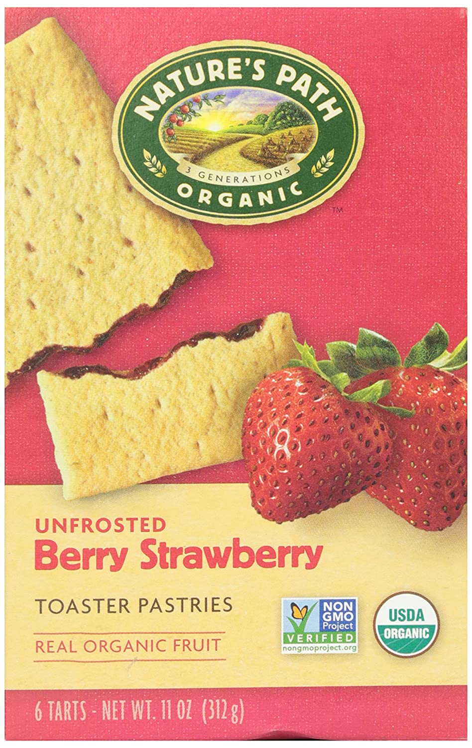 Nature's Path Toaster Pastries, Strawberry Un-Frosted, 6 ct