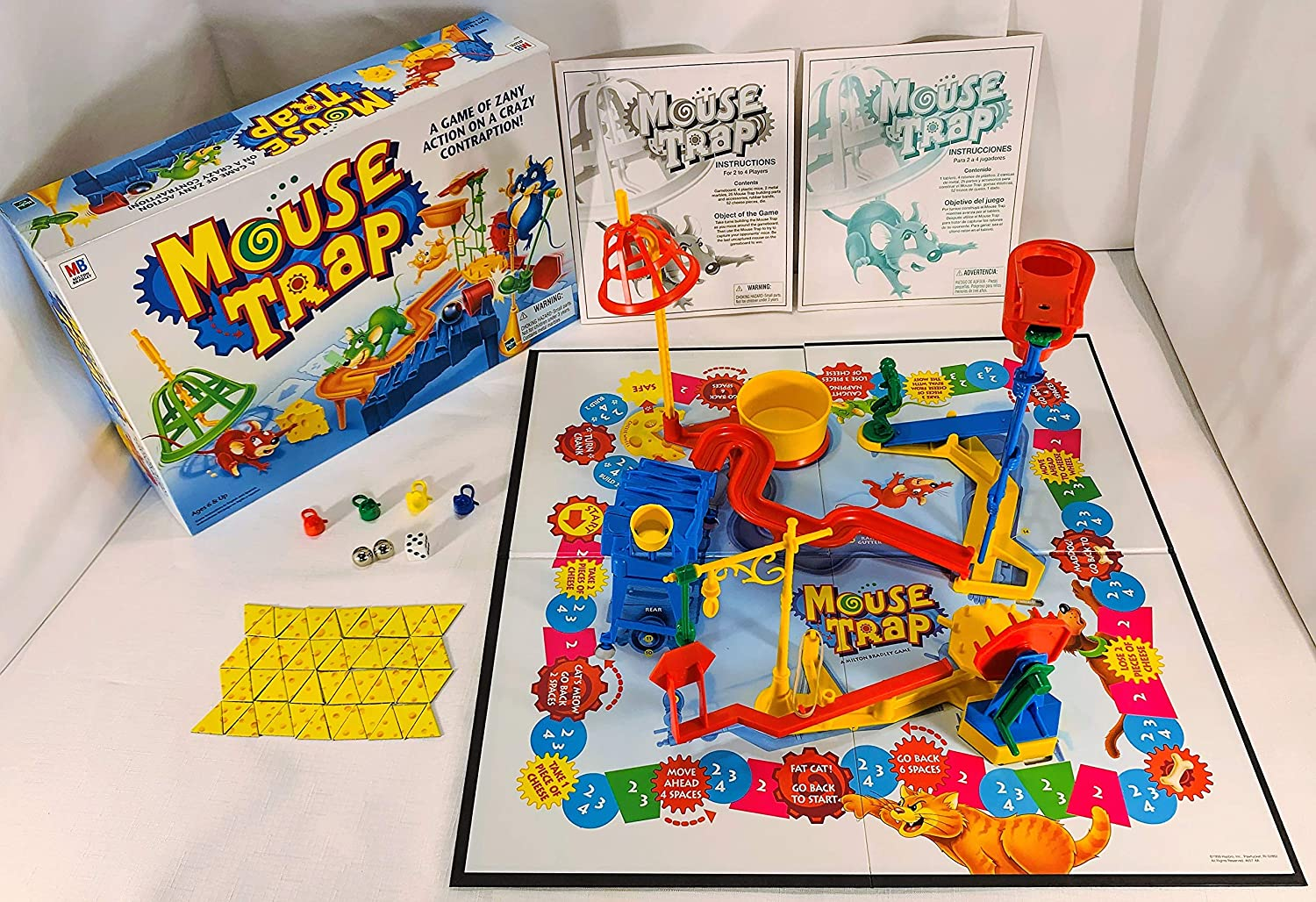 Mouse Trap Board Game 1999 Edition by Milton Bradley by Milton Bradley: Amazon.es: Juguetes y juegos