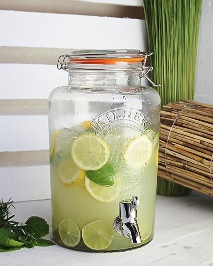 """Dispensador de bebidas """"Original Cristal de 5 l, Vintage dispensador de agua"""
