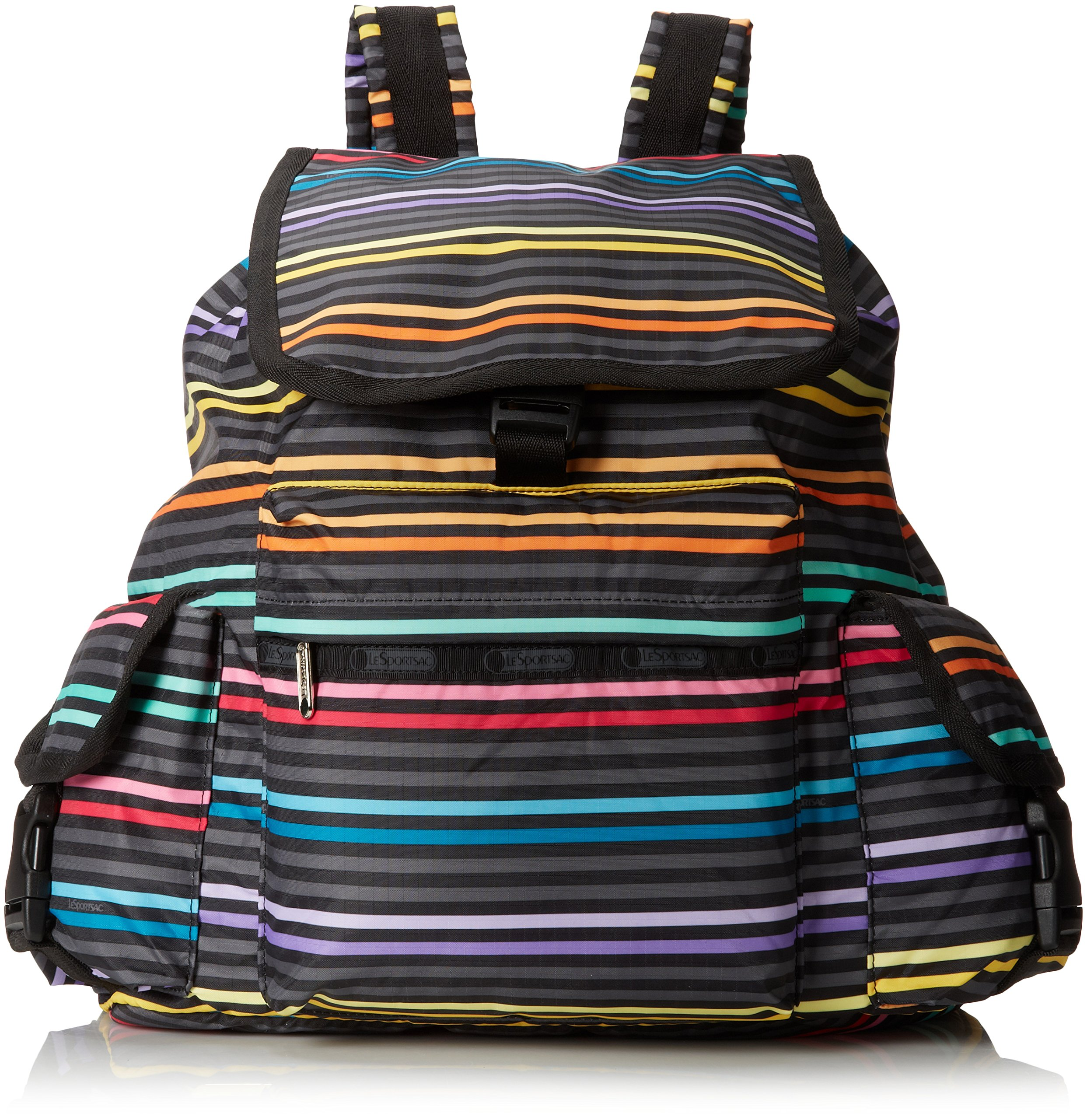 LeSportsac Voyager Nylon Bag, Lestripe Black,One Size