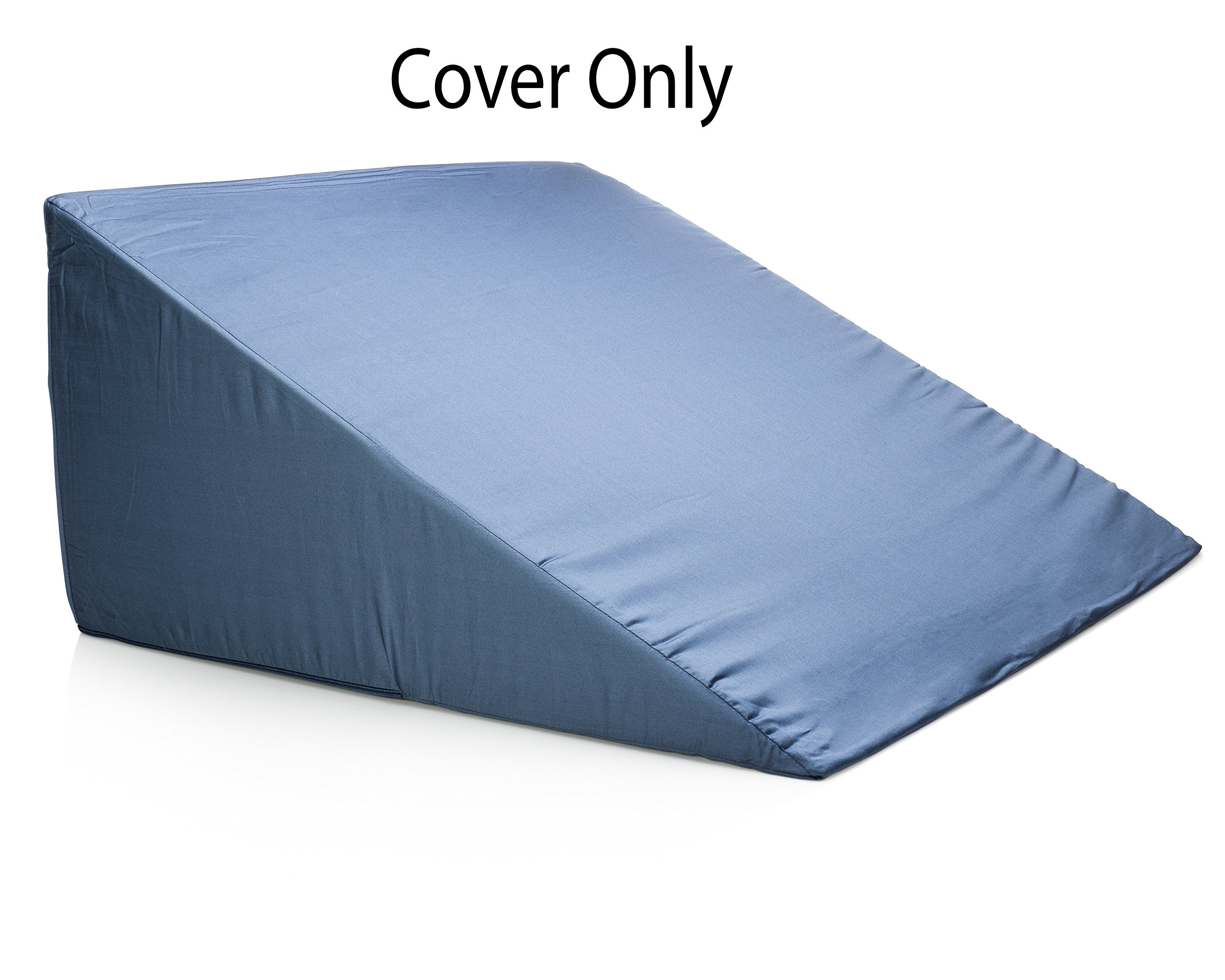 Bed Wedge Pillow Case - Cover 24x24x12 - Fits Most Full Size Sleep Wedges by Sleep Jockey